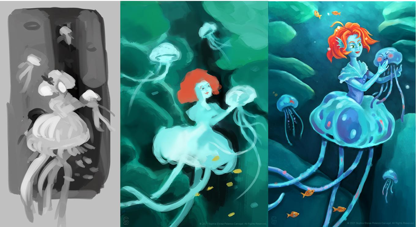 Jellyfish Lady process